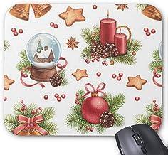 Alfombrillas de Goma Antideslizantes para Mouse Alfombrillas de ratón rectangulares para computadoras portátiles (20x24 cm) -Pretty Mouse Pad de Navidad