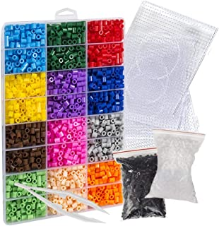 Evoretro Pixel Beads Art Kit – 6800 Colorful Fuse Beads to Unleash Kids Creativity and Fine Motor Skills, Create 2D Pixelated Wall Art, Video Games Characters, Animal and Flower Design