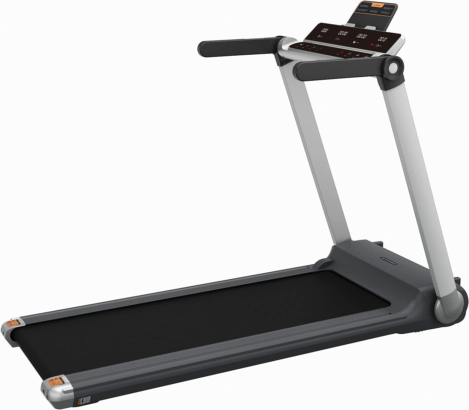 ADVENOR Treadmill Motorized Treadmills 3.0 HP Installation-Free Electric Running Machine 300 LBS Weight Capacity Folding Portable Treadmill Fitness Indoor with 24 Preset Programs (Grey)