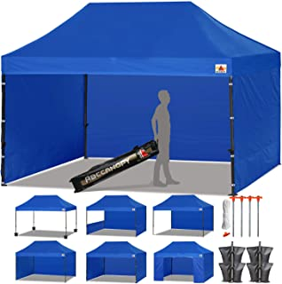 ABCCANOPY 23+ Colors Deluxe 10x15 Pop up Canopy Outdoor Party Tent Commercial Gazebo with Enclosure Walls and Wheeled Carry Bag Bonus 4 Weight Bags and 2 Half Walls (Royal Blue)