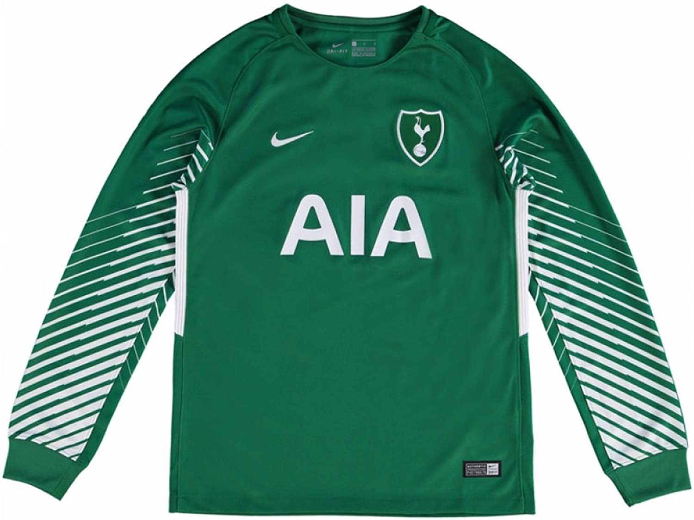 Nike 2017-2018 Tottenham Away Goalkeeper Football Soccer T-Shirt Trikot (Grün) - Kids