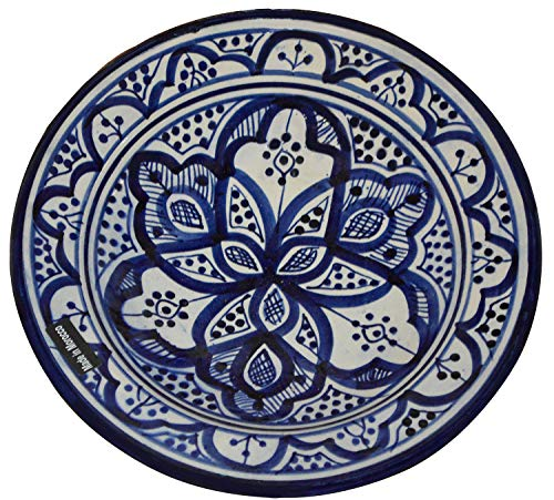 Ceramic Plates Moroccan Handmade Serving, Wall Hanging, Exquisite Colors Decorative Large 12 inches Diameter