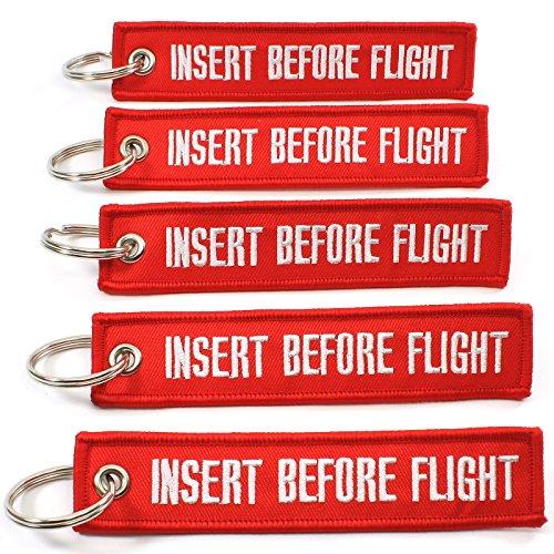 Rotary13B1 Insert Before Flight Keychain - Red - 5pcs