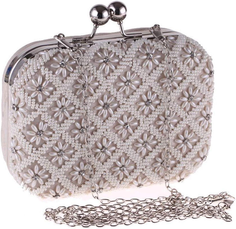 Frauen Clutch Bag Pearl Clutch Clutch Clutch Handtasche Perlen Abendtasche Clutch Geldbörse für Braut Hochzeit Handtasche Prom Tasche B07K3V3Y1T  Bevorzugtes Material 09eca7