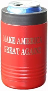 Thomas And Son - Beverage Bottle Holder - Double Wall Stainless Steel Insulated Can Holder And Beer Can Holder - Engraved Make America Great Again Can Insulated Holder - American Patriotic Gifts MAGA