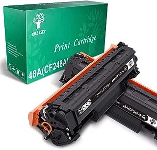 GREENSKY Compatible Toner Cartridge Replacement for HP 48A CF248A for HP Laserjet Pro M15w M15a M16a M16w MFP M29w MFP M29a MFP M28w MFP M28a Printer (Black, 2-Pack)