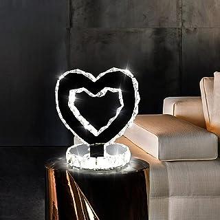 Lampe Cristal, 18w Lampe de Chevet LED Forme d'Amour de Conception Créative Lumière Blanche Froide 6000k, Éclairage pour S...