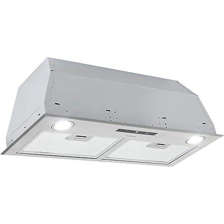 KLARSTEIN Paolo - Hotte aspirante, modules de ventilation, 600 m³/h, 200W, filtre à graisse en aluminium, LED Touch, inox, recirculation possible, largeur 72,5 cm - argent