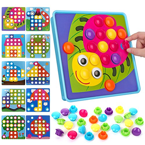 NextX Button Art Toy Color Matching Mosaic Pegboard