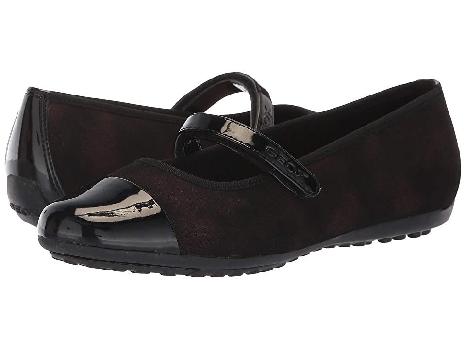 Geox Kids Piuma 69 (Big Kid) (Black/Bordeaux) Girl