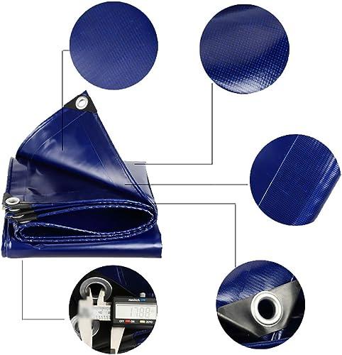 DLDL Bache antipluie Waterproof Heavy Duty Feuille de bache épaissie Isolation extérieure écran Solaire Tente Splice Auvent Ombre du Soleil (Taille   5  5m)