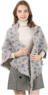 GERINLY Leopard Print Scarf Cashmere Feel Warm Winter Neck Wraps Pashmina Shawls