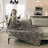 Leopard print Throw Blanket Fleece Minky Microfiber Soft Throw