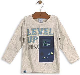 Camisa Meia Malha Botonê Bebê Up Baby
