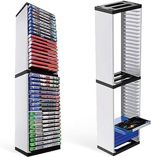 Tour de Stockage De Jeux pour PS5, Support de Tour de Stockage de Disques de Jeu PlayStation 5, Stocke 36 Jeux PS5 ou Disq...