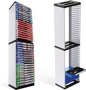 SOONHUA Étagère pour CD, jeux vidéo, DVD, boîtes de rangement pour 36 CD, pour Playstation 5