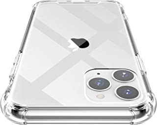 Shamo's iPhone 11 PRO MAX Case Clear Reinforced Edges TPU Bumper Anti-Scratch Shock Proof Cover