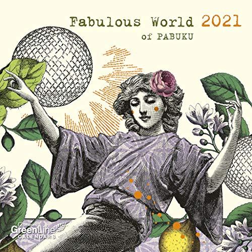 GreenLine Fabulous World of PABUKU 2021 - Wand-Kalender - Broschüren-Kalender - 30x30 - 30x60 geöffnet
