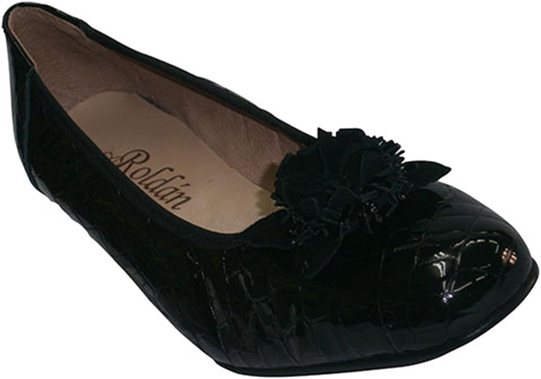 Roldan Schuhe mit Keilkrokolackleder Ballerinas Ballerinas Ballerinas schwarz db6