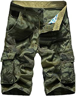 97650acd52 Photno Cargo Shorts, Men's Casual Loose Fit Straight Jogger Big and Tall  Multi-Pocket