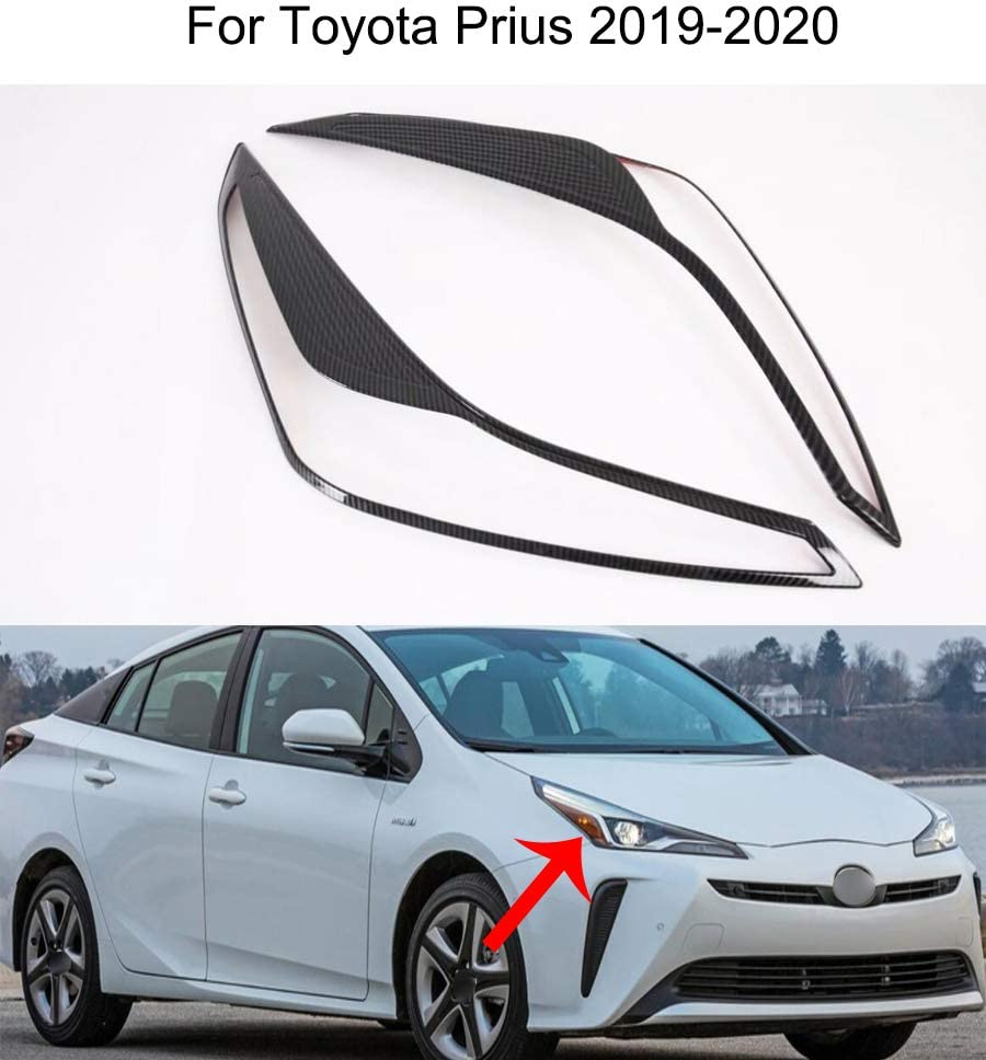Yingchi Carbon Max 56% OFF Las Vegas Mall Fiber Car Front Headlight Cover Eyelids Moul Lamp