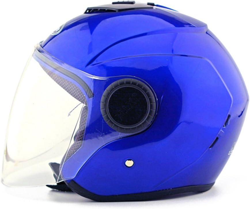Kangzy Moto Scooter moto scooter vélo électrique Kraft Véhicule de travail Protection Sécurité pour casque Chapeau Cagoule demi-sphère Bague d'hiver 215Bleu