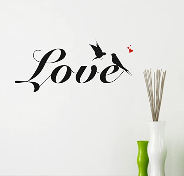 CUGBO Love Bird Wall Decal Sticker Home Rooms Nursery Decor Vinyl Wall Art Quotes