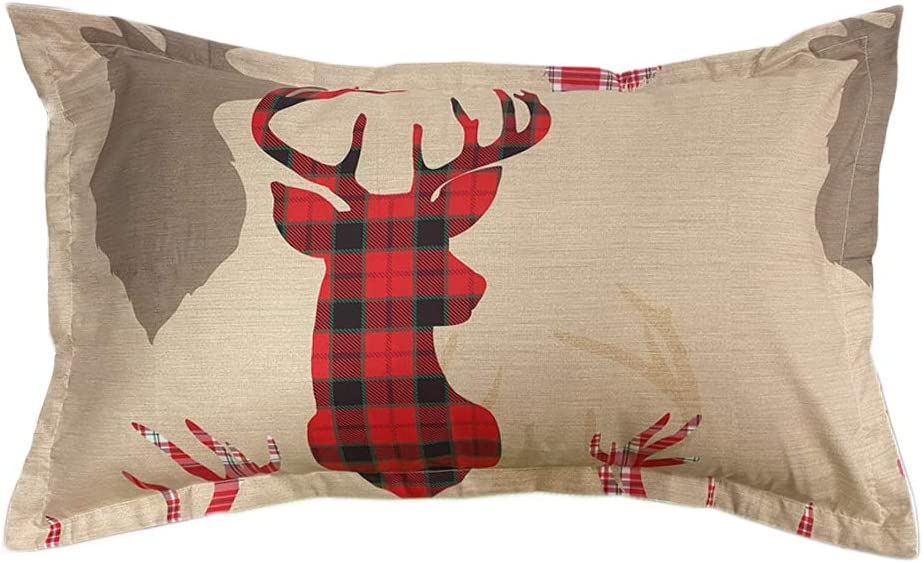 1 Duvet Cover and 1 Pillowcase ADASMILE A /& S Christmas Deer Bedding Set Soft Microfiber Duvet Cover with Zipper Closure Comforter Cover Twin Size