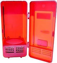 MagiDeal Mini USB Refrigerator Fridge Cooler Freezer Cooling Heating Function - Red, 19.4×9×9cm