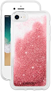 EMERGE SNOW GLOBE iPhone 8 / iPhone 7 Glitter Cell Phone Case - Flowing Liquid Glitter Pink