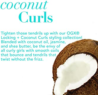 OGX Locking + Coconut Curls Finishing Mist, 6 Ounce (64021)