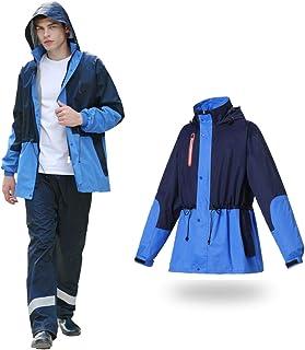 Ponchos for women Raincoat Rain Pants Suit Full Body Rain Jacket Motorcycle Riding Rain Cap Waterproof Rainwear Unisex