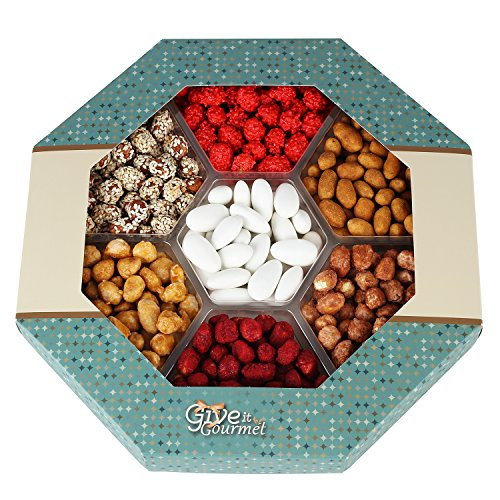 GIVE IT GOURMET, Peanut Variety,Gift Baskets Holiday Nuts Gift Basket Delightful Gourmet Food Gifts Prime Delivery Birthday Christmas Mothers & Fathers Day Nuts Gift Box Assortment Men Women Families