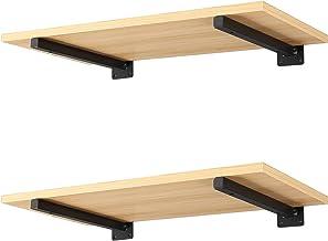 Wanddrager, plank, ondersteuning, wandplank, beugel - 2 stuks, retro plankdragers, plankhouders voor wandrek, zwart (20 c...