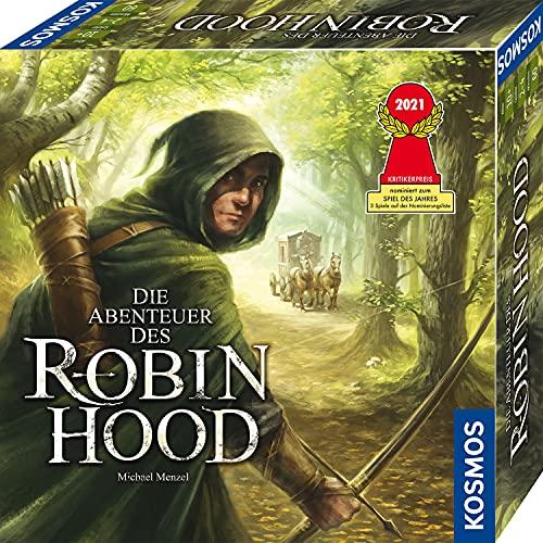 KOSMOS 680565 Die Abenteuer des Robin Hood, Kooperatives Abenteuer-Spiel für die ganze Familie, mit offener Spielwelt und sich veränderndem Spielplan, spannendes Gesellschaftsspiel