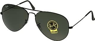 Ray-Ban Men's 3026 L2821 Aviator, 62-mm, Black