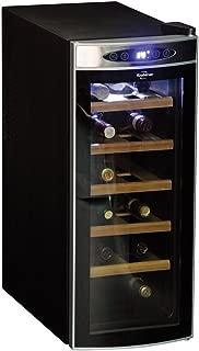 Koolatron WC12-35D Black 12 Bottle Deluxe Wine Cellar