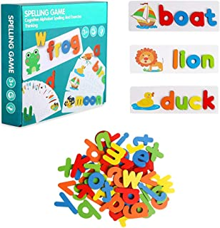 Boxgear See and Spell Pre-Learning Toys - Sight Words Kids Reading Games and Flash Cards Matching Puzzles   28 Double-Side...