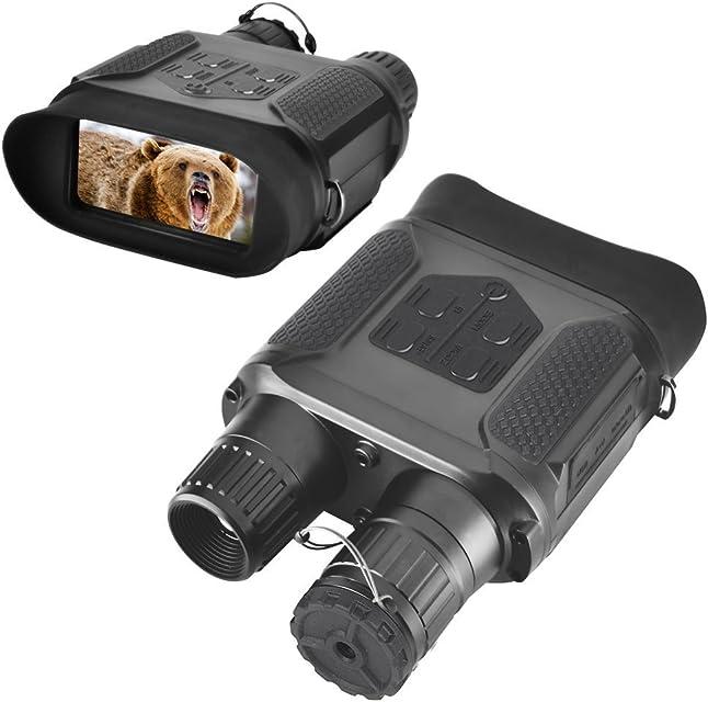Landove - Binocular de visión Nocturna Digital para Caza 7 x 31 con 2 Pulgadas TFT LCD HD Infrarrojos cámara IR y videocámara 400 m Alcance de visualización para 5 MP Foto y vídeo 640 p