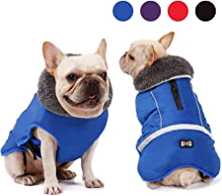Dog Cold Weather Coats for Small Medium Large Gogs Outdoor Indoor Activities-Warm Dog Winter Clothes Jackets - Waterproof Windproof Reflective Retro Style Dog Vest