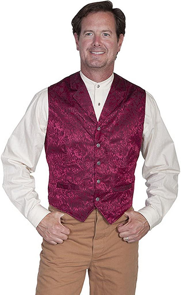 Wahmaker by Scully Men's Wahmaker Silk Floral Single Breasted Vest Big and Tall - 535354X-Pur