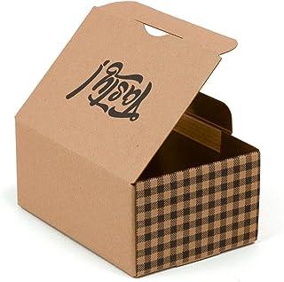 KARTOX AMA900 Only Boxes Pack 100 Cajas de cartón Comida Eco Take Away | Caja con Capa Interior Resistente al Aceite y Gra...