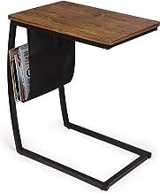 طاولات أريكة جانبية من SRIWATANA لغرفة المعيشة، طاولة أريكة كلاسيكية مع جيب جانبي، طاولة على شكل حرف C للحاسوب المحمول (ال...