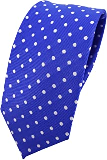 TigerTie Cravatta marino blu scuro rosso argento a pois