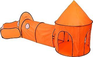 Ejoyous Lektält för barn, baby crawl tunnel lektält och crawlingtunnel polyester för utomhus för inomhus