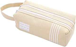 WSJTT Fashionable Creative Pencil Pouch for Boy Girl Student Christmas Gift (Color : Beige)