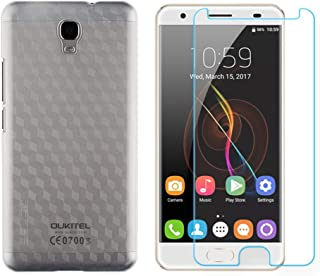 OUKITEL OK6000 Plus case, Hard Plastic PC [Ultra-Thin] [Anti-Drop] Slim Back Cover with Tempered Glass Screen Protector (Clear)