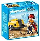 Playmobil Construcción - Obrero con Martillo eléctrico, Juguete Educativo, Negro, Naranja, Rojo, Amarillo, 15 x 5 x 15 cm, (5472)
