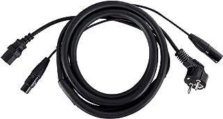 Pronomic Stage EUIECD-2.5 hybride kabel koude apparaten/DMX - 2,5 m combi-kabel voor stroomvoorziening en DMX-signaal - vo...