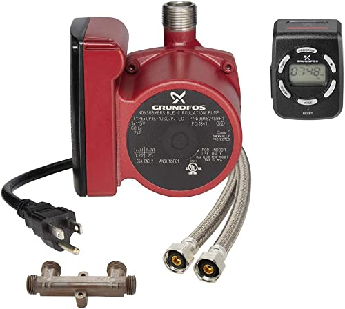 discount Grundfos 99452459 (old part number 595916) UP15-10SU7P/LC Instant popular Hot Water Comfort Recirculation sale System 9H with NEW Digital Timer sale